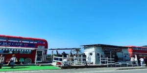 糸島ロンドンバスカフェ外観